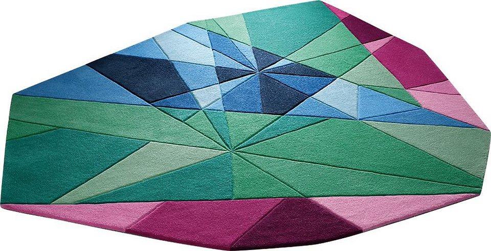 Teppich, Outshape, ESPRIT, »Jewel«, Sonderform, handgetuftet in multicolor