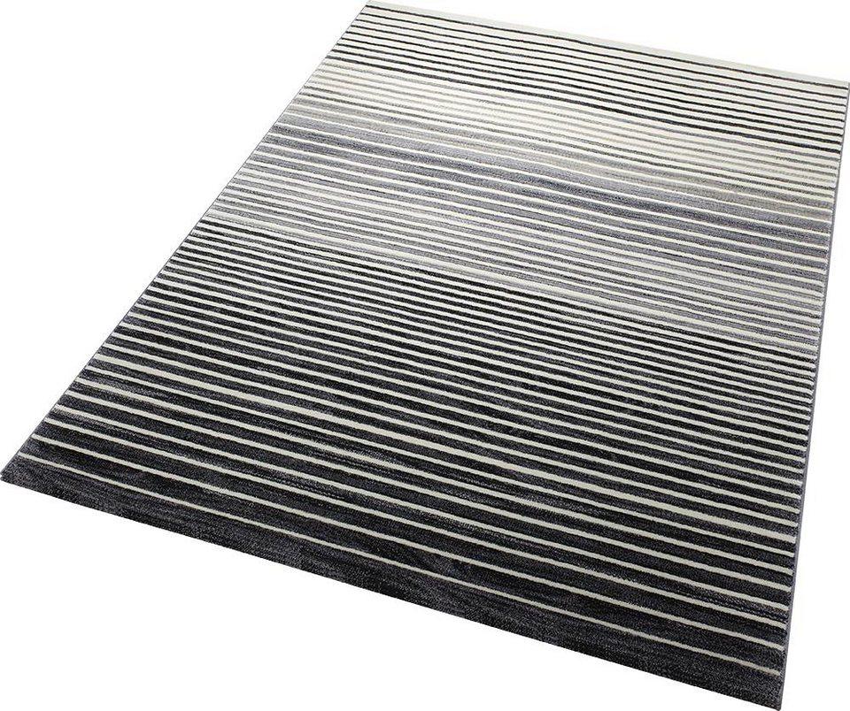 Teppich, ESPRIT, »Nifty Stripes«, gewebt in grau