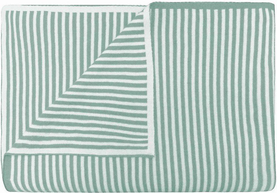 Wohndecke, Marc O'Polo Home, »Arvid«, mit feinen Streifen in grün-grau