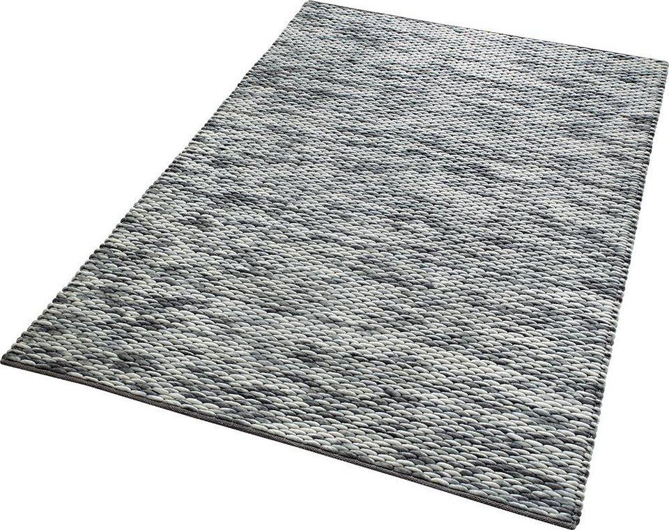 Teppich, Esprit, »Reflection«, Höhe 20 mm, handgewebt in grau