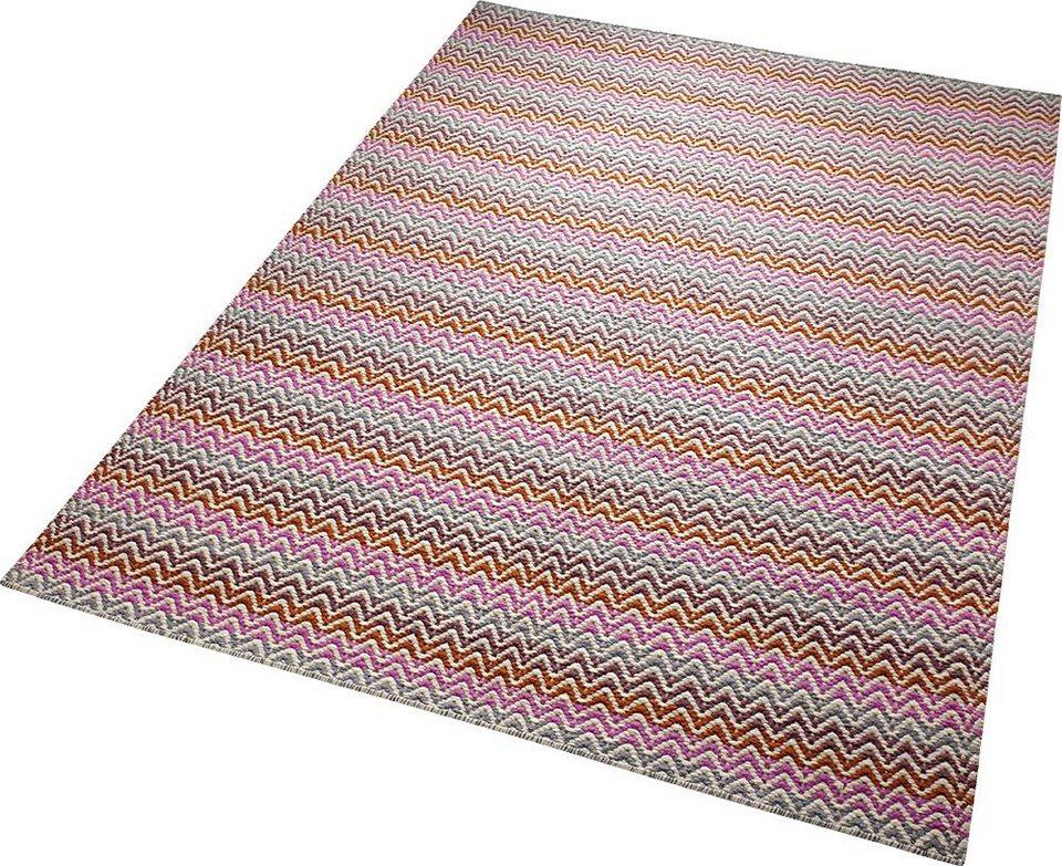 Teppich, ESPRIT, »Massoni«, reine Schurwolle, handgewebt in pink