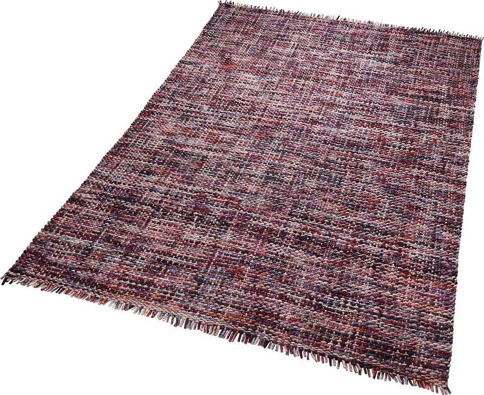 Teppich, ESPRIT, »Purl«, reine Schurwolle, handgewebt in lila