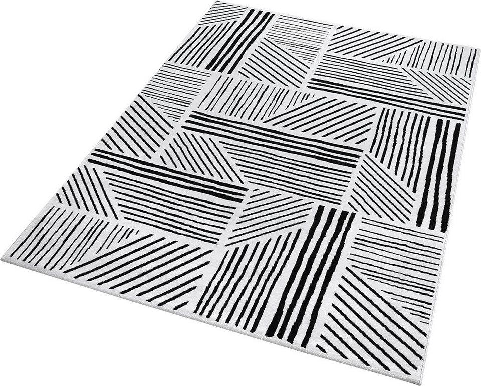 Teppich, ESPRIT, »Graphics«, gewebt in schwarz