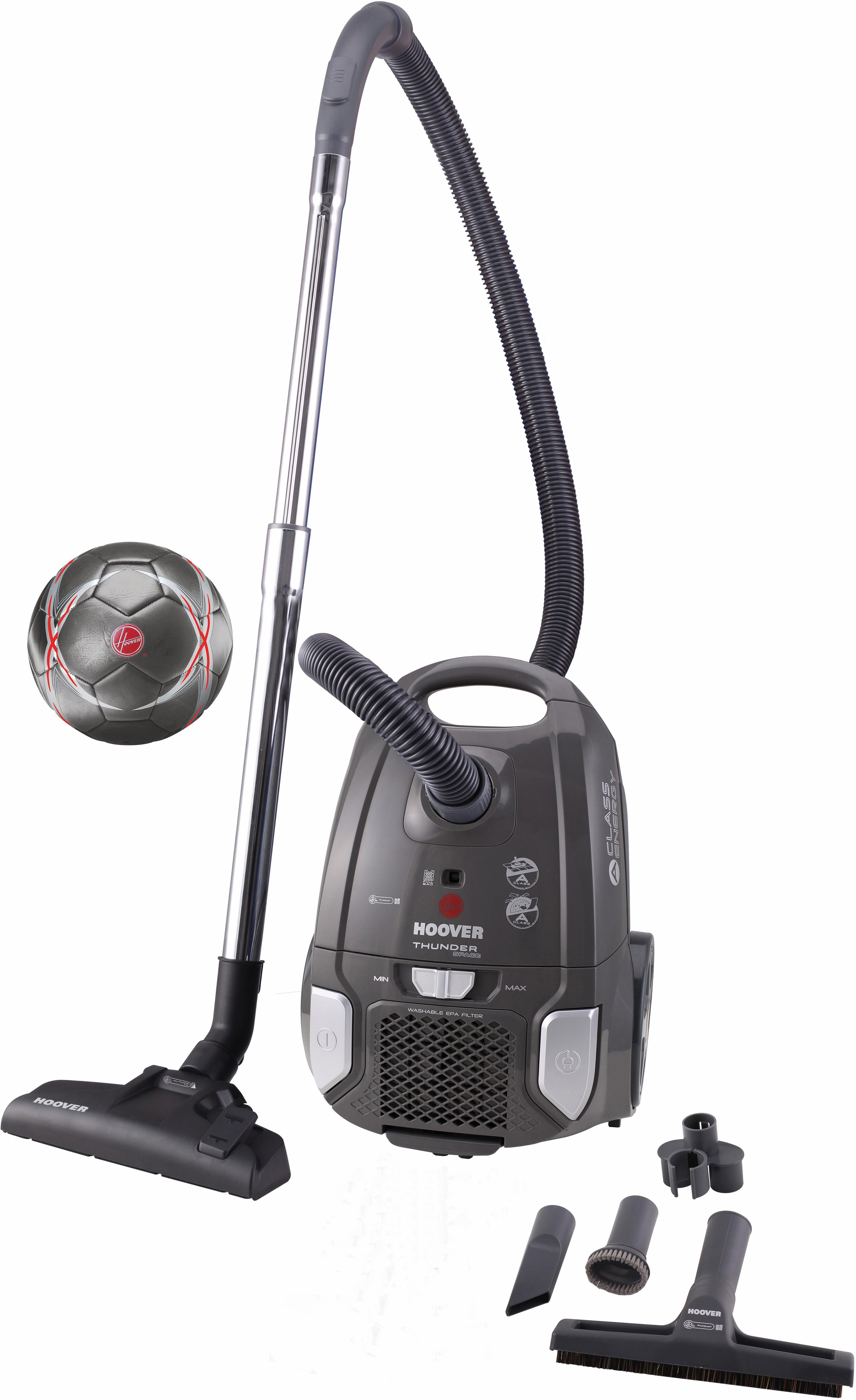 Hoover Bodenstaubsauger Thunder Space TS70_TS2S, Energieklasse A, schwarz / silber
