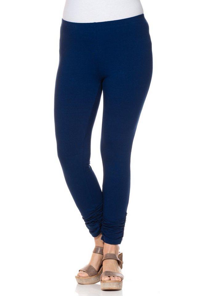 sheego Style Stretch-7/8 Leggings in nachtblau