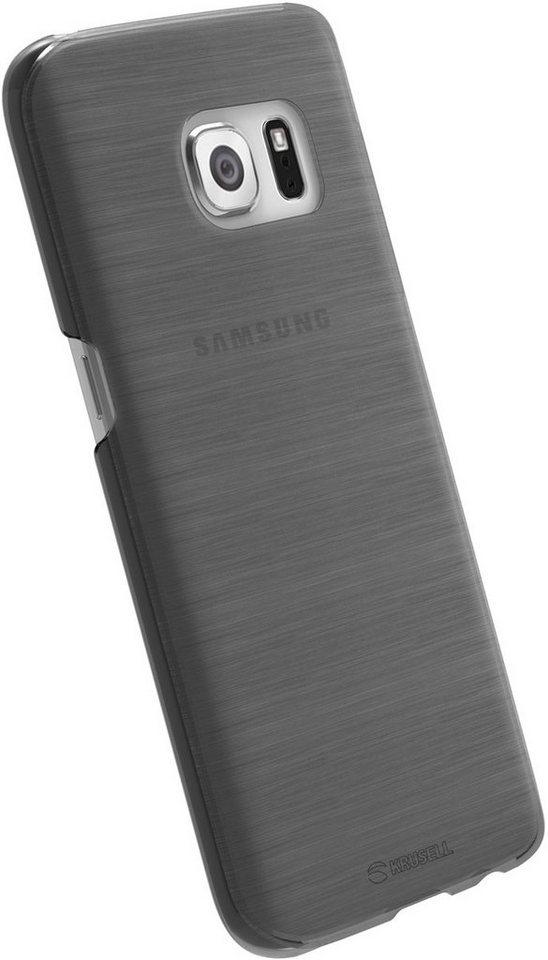 Krusell Handytasche »HardCover Boden für Samsung Galaxy S7« in Schwarz-Transparent