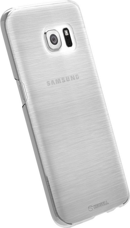 Krusell Handytasche »HardCover Boden für Samsung Galaxy S7« in Weiß-Transparent