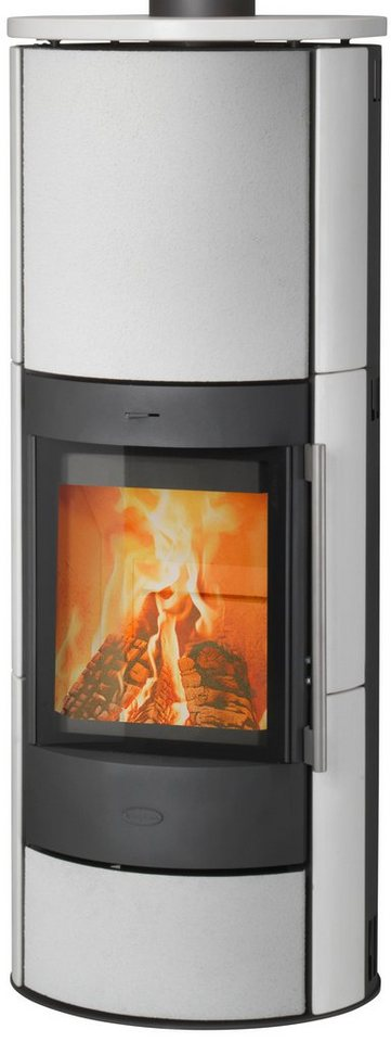 Kaminofen »Warnemünde«, Keramik weiß, 6 kW, Fireplace in weiß
