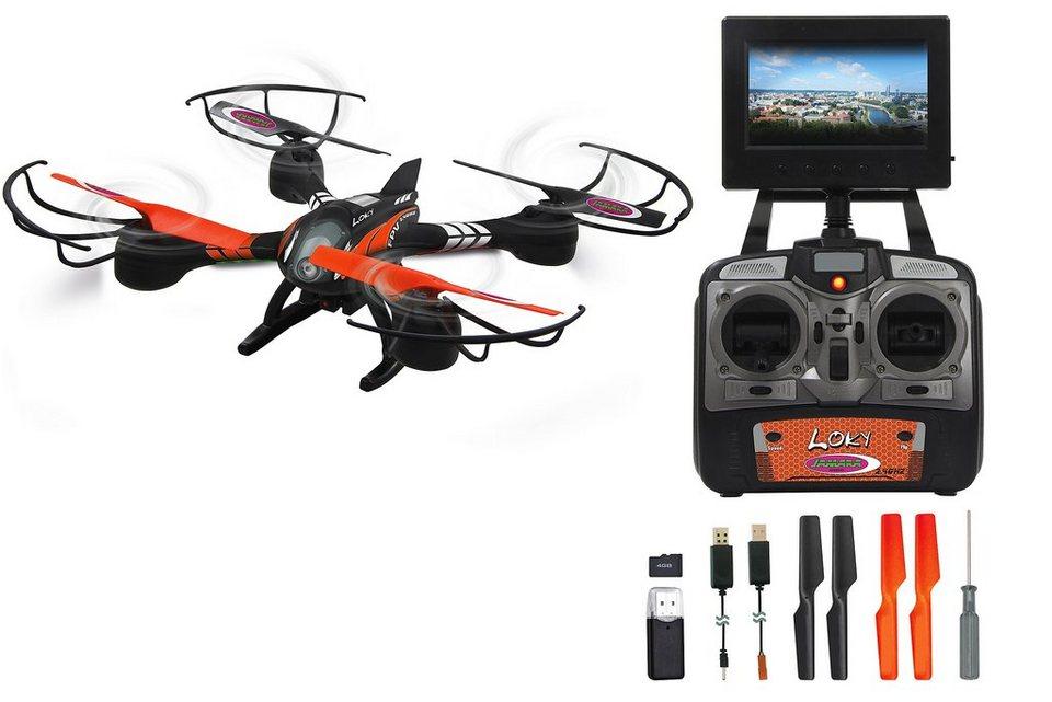 jamara quadrocopter mit display und kamera 2 4 ghz loky. Black Bedroom Furniture Sets. Home Design Ideas