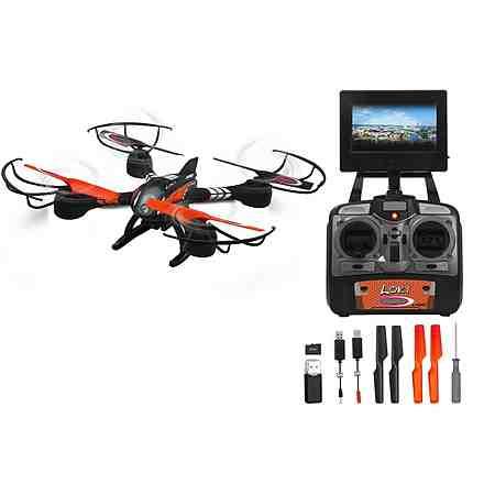 JAMARA Quadrocopter mit Display und Kamera, 2,4 GHz, »Loky«