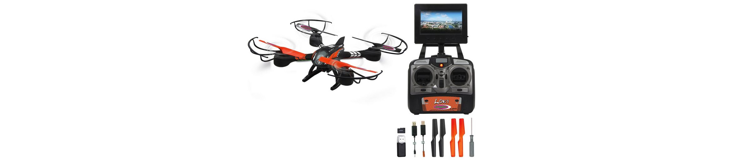 JAMARA Quadrocopter mit Display und Kamera, 2,4 GHz, »Loky«