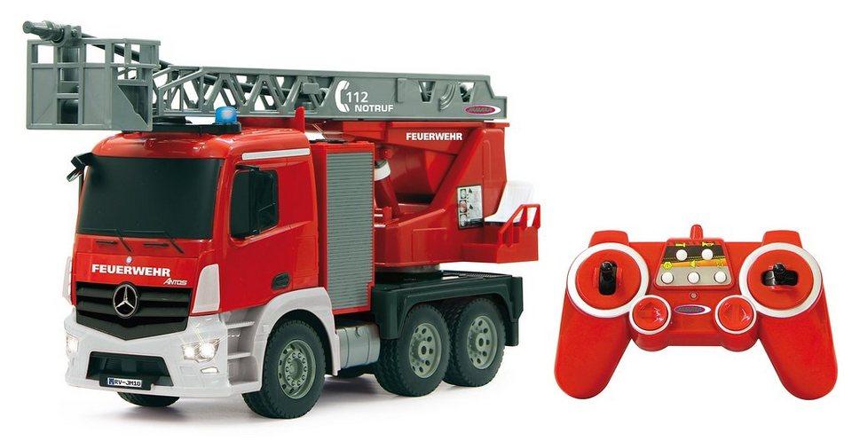 JAMARA RC Feuerwehrauto mit Wasserspritze, Maßstab 1:20, »Mercedes Antos 2,4 GHz«