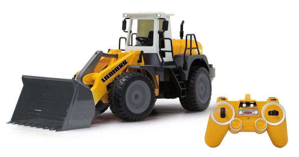 JAMARA RC Radlader mit Motorensound, Maßstab 1:20, »Liebherr 564 2,4 GHz« in gelb