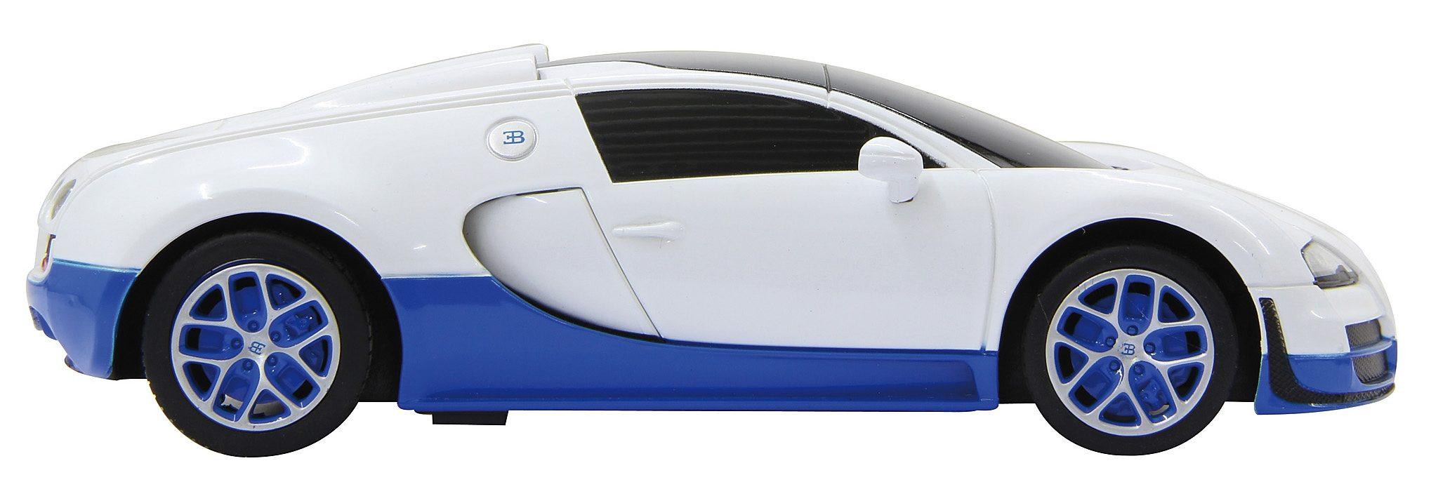 JAMARA RC Auto mit Licht, Maßstab 1:18, 40 MHz, »Bugatti Veyron blau/weiß«