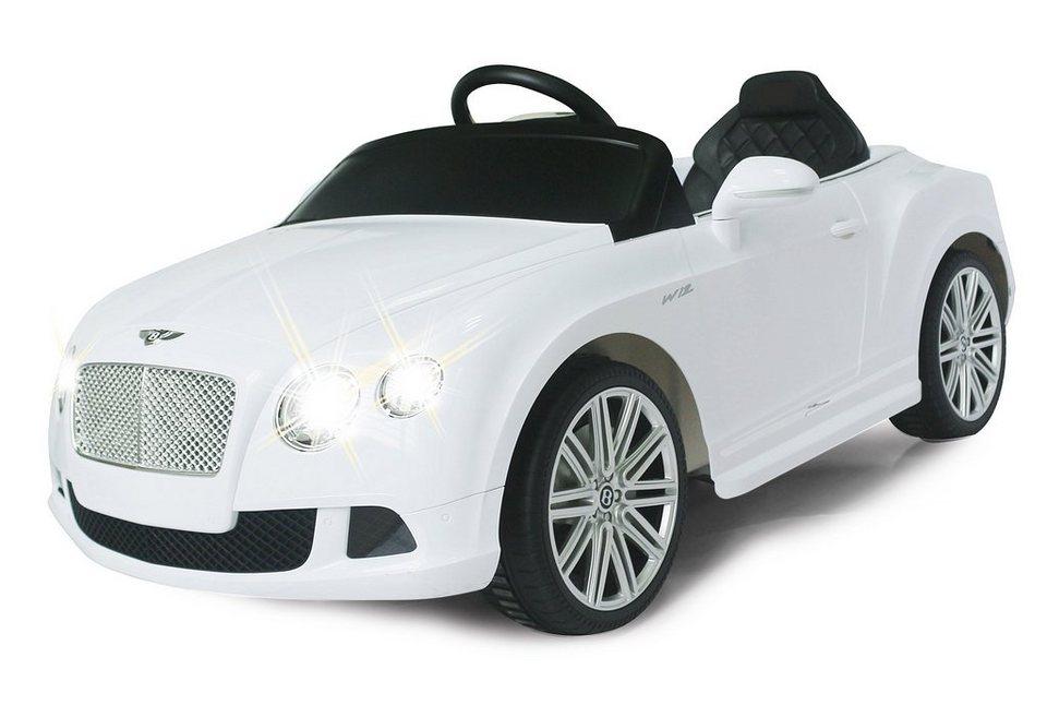 JAMARA Elektrofahrzeug für Kinder, 2,4 GHz, »JAMARA KIDS Ride-On Bentley GTC, weiß« in weiß
