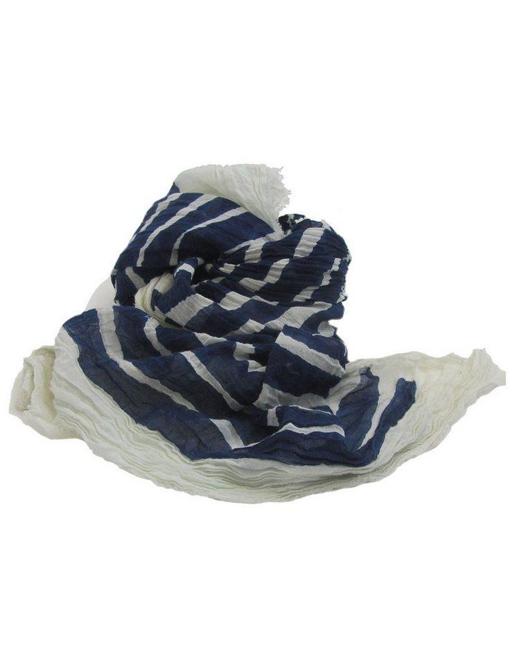 Replay Schals »gestreift« in OFF WHITE-MIX BLUE