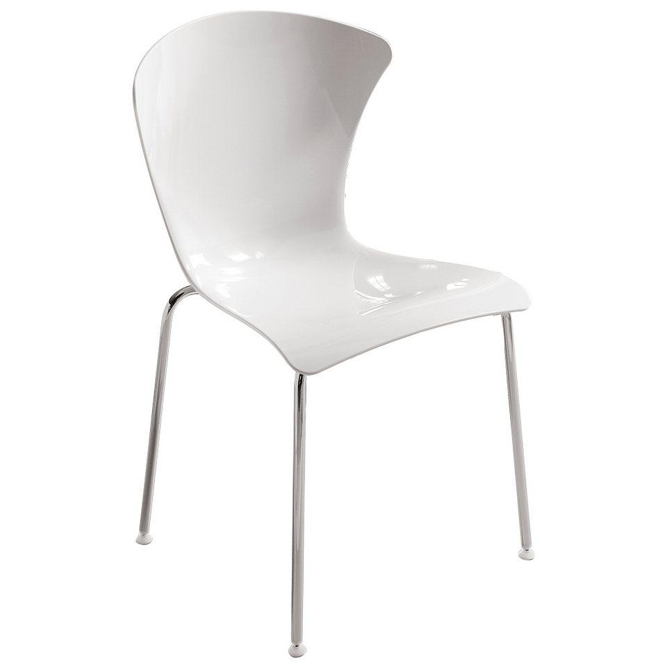 Infiniti Design Designer Stuhl »Glossy« in weiß