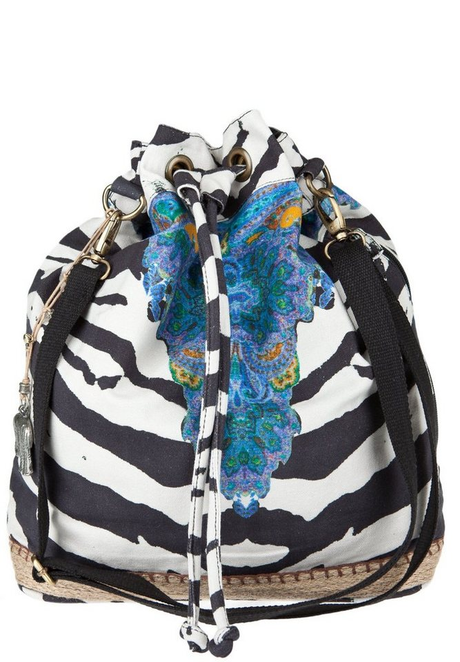 ANOKHI Beuteltasche »CANVAS DRAWSTRING SHOPPER ESPANDRILLES« in zebra