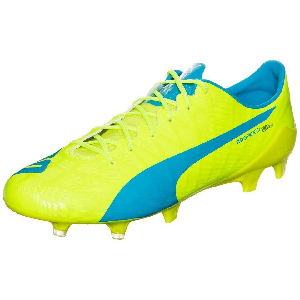 PUMA evoSPEED SL-S FG Fußballschuh Herren in neongelb / blau