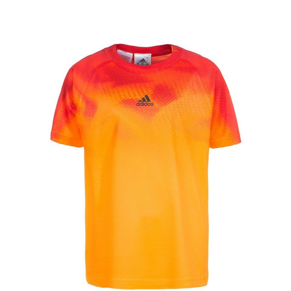 adidas Performance adizero Tennisshirt Kinder in orange / rot