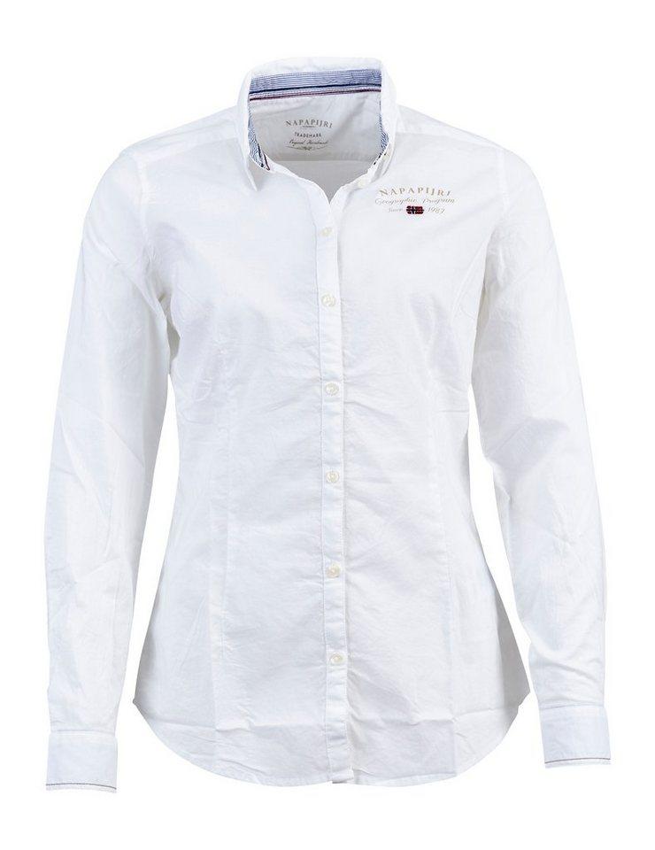 Napapijri Bluse »GREZAN SOLID A« in BRIGHT WHITE