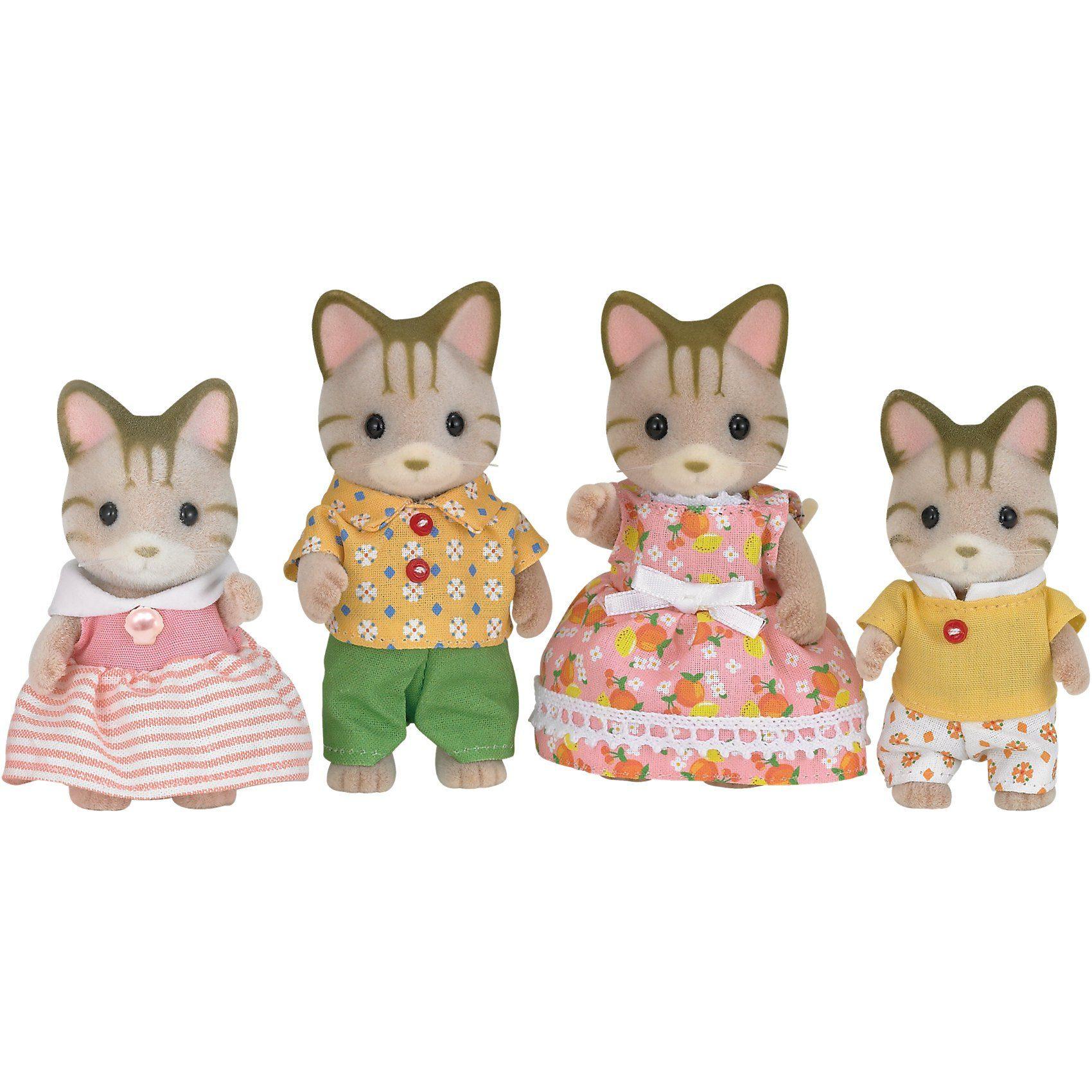 EPOCH Traumwiesen Sylvanian Families Tigerkatzen: Familie Fauch-Fauch Puppenha