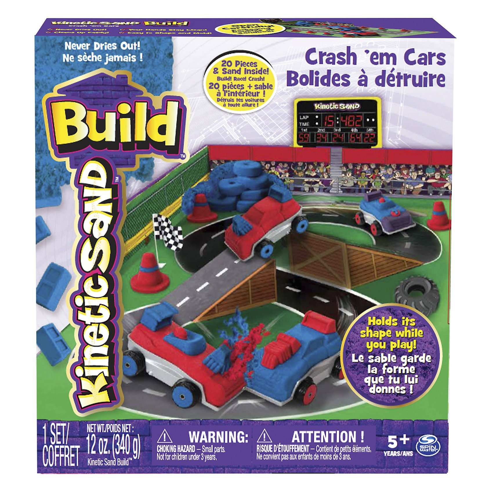 Spin Master Kinetic Sand Build Crash Em Cars