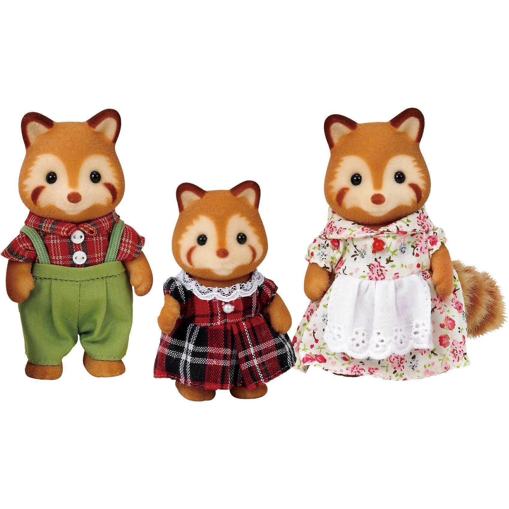 Epoch Traumwiesen Sylvanian Families Rote Panda: Familie Puschel Puppenhauszub