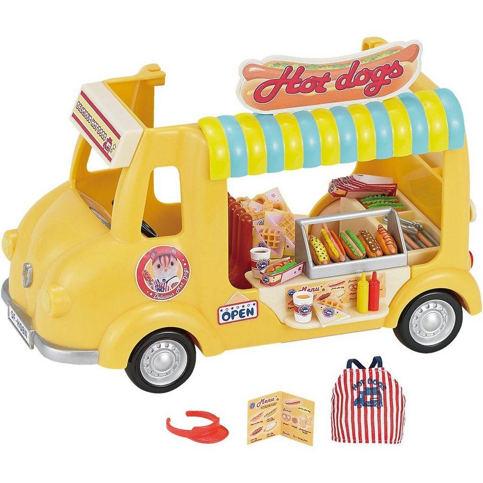 Epoch Traumwiesen Sylvanian Families Hot Dog Wagen Puppenhauszubehör