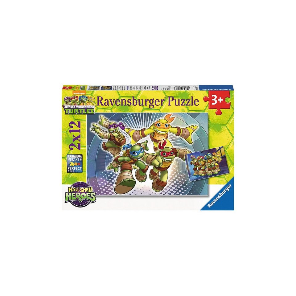Ravensburger Puzzleset Turtles: Half Shell Heroes 2 x 12 Teile