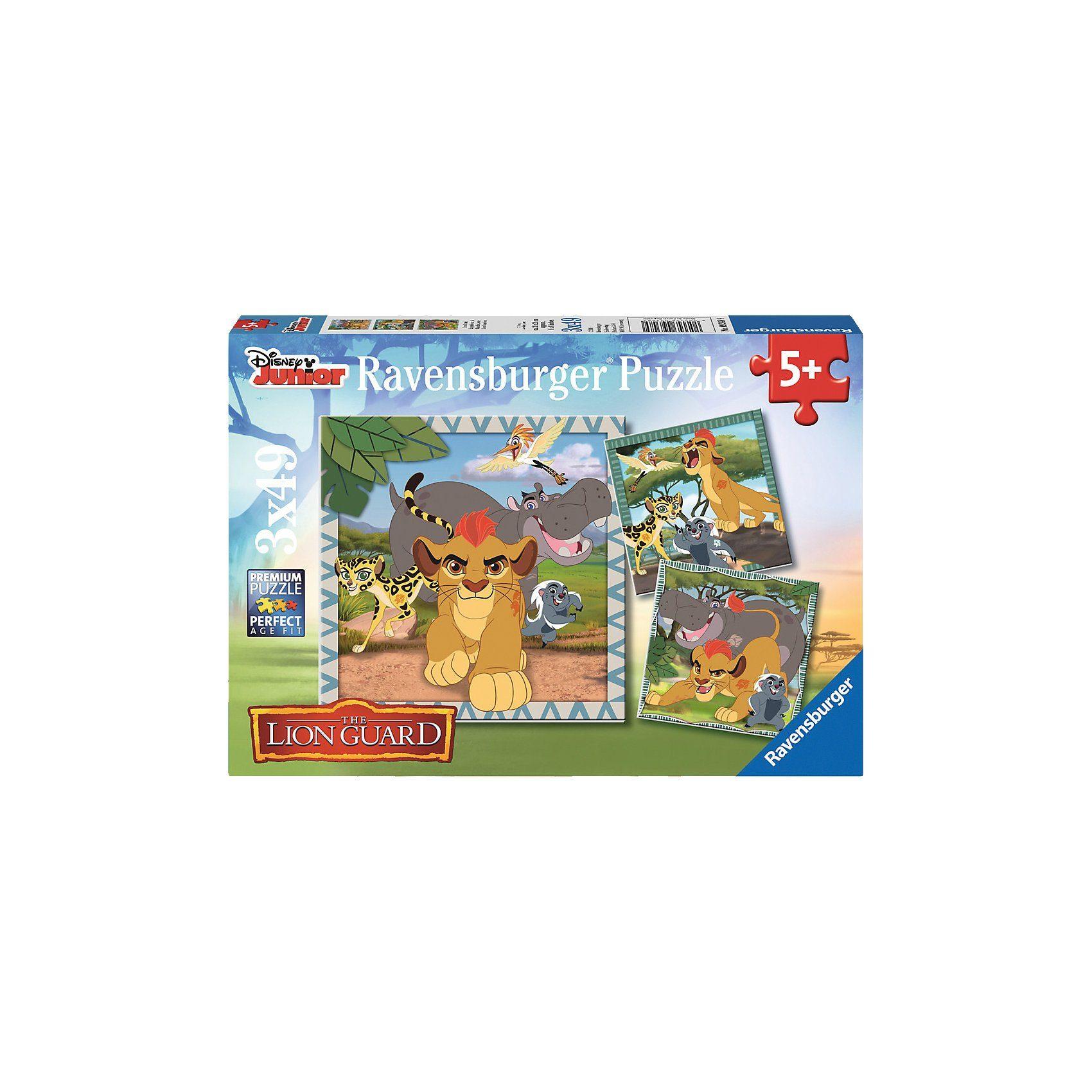 Ravensburger Puzzleset Lion Guard 3 x 49 Teile