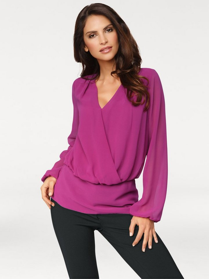 Chiffonbluse in beere