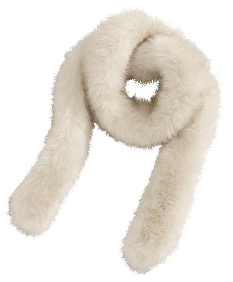 Loevenich Schal aus Fake-Fur in ecru