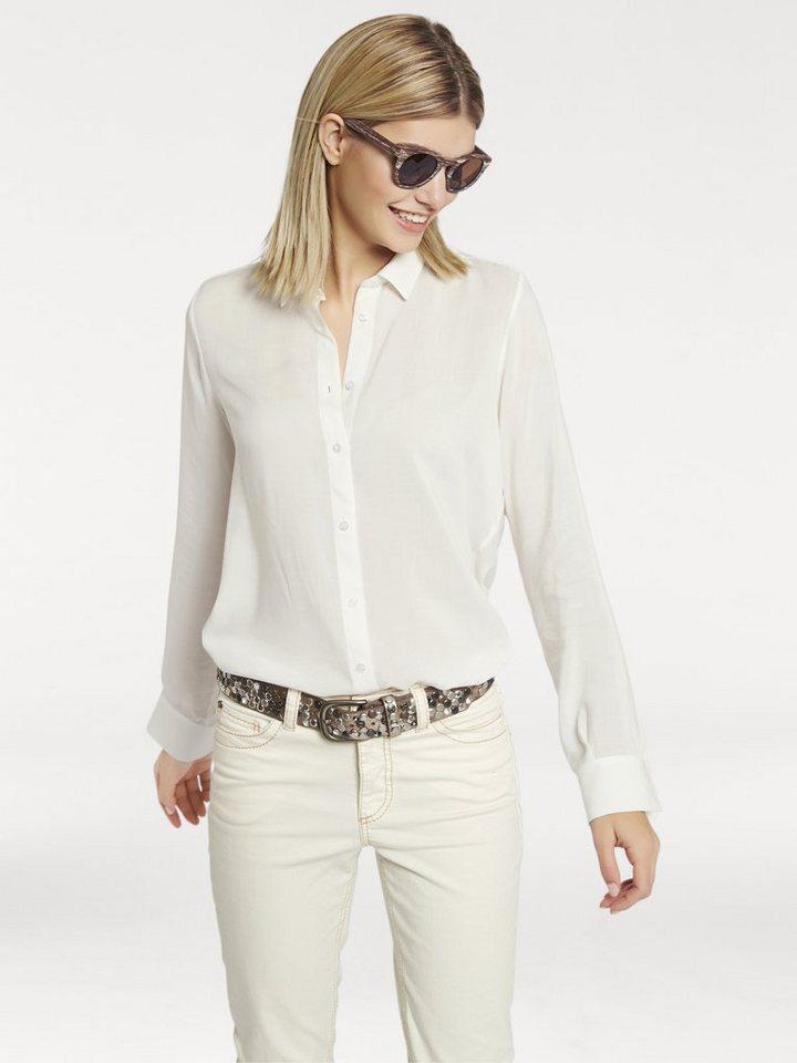 Oversized-Bluse in ecru