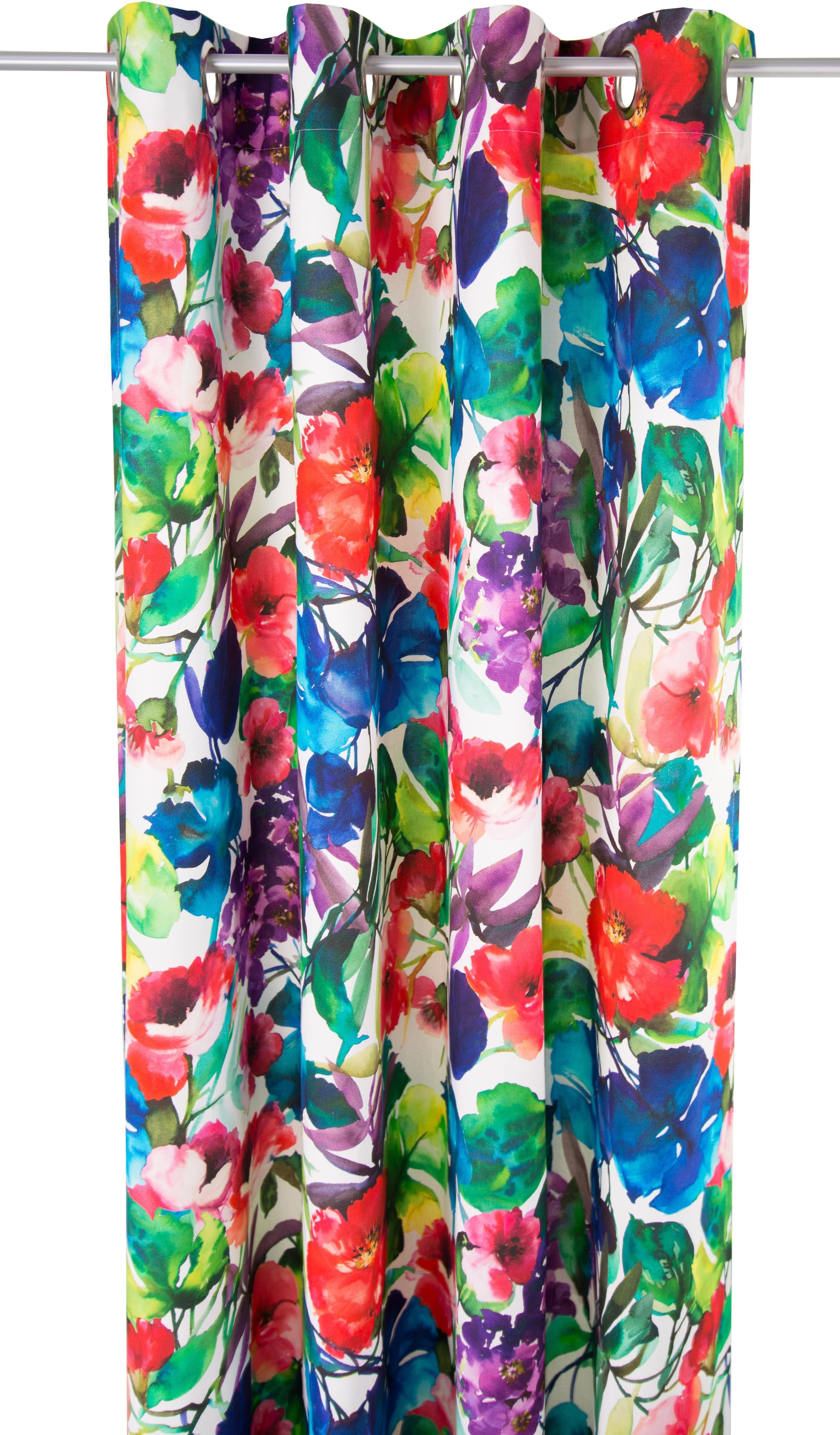 Vorhang, Tom Tailor, »Garden Flowers«, mit Ösen (1 Stück)
