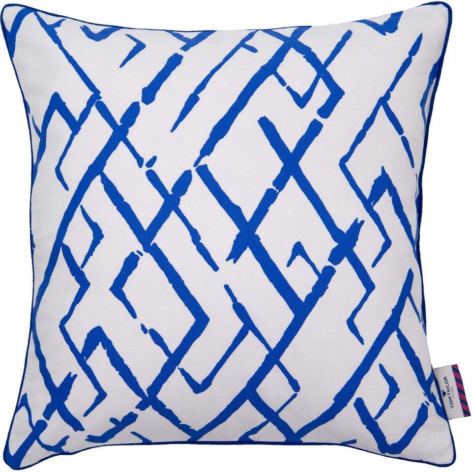 Kissenhüllen, Tom Tailor, »Modern Art« (1 Stück) in blau/weiß