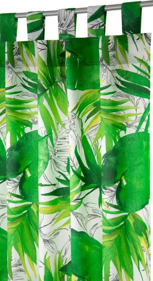 Vorhang, Tom Tailor, »Jungle«, mit Schlaufen (1 Stück) in grün
