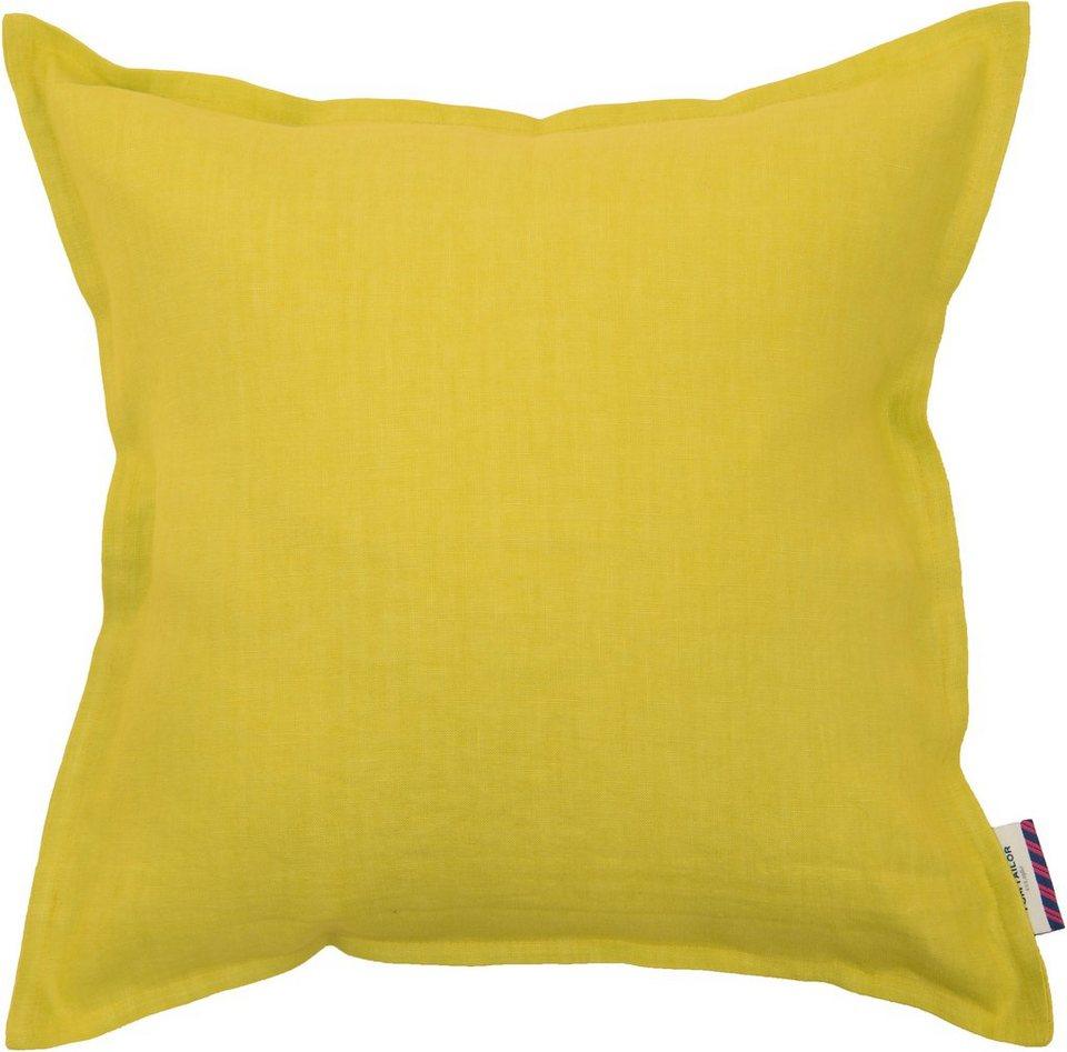Kissenhüllen, Tom Tailor, »Stone Washed« (1 Stück) in gelb