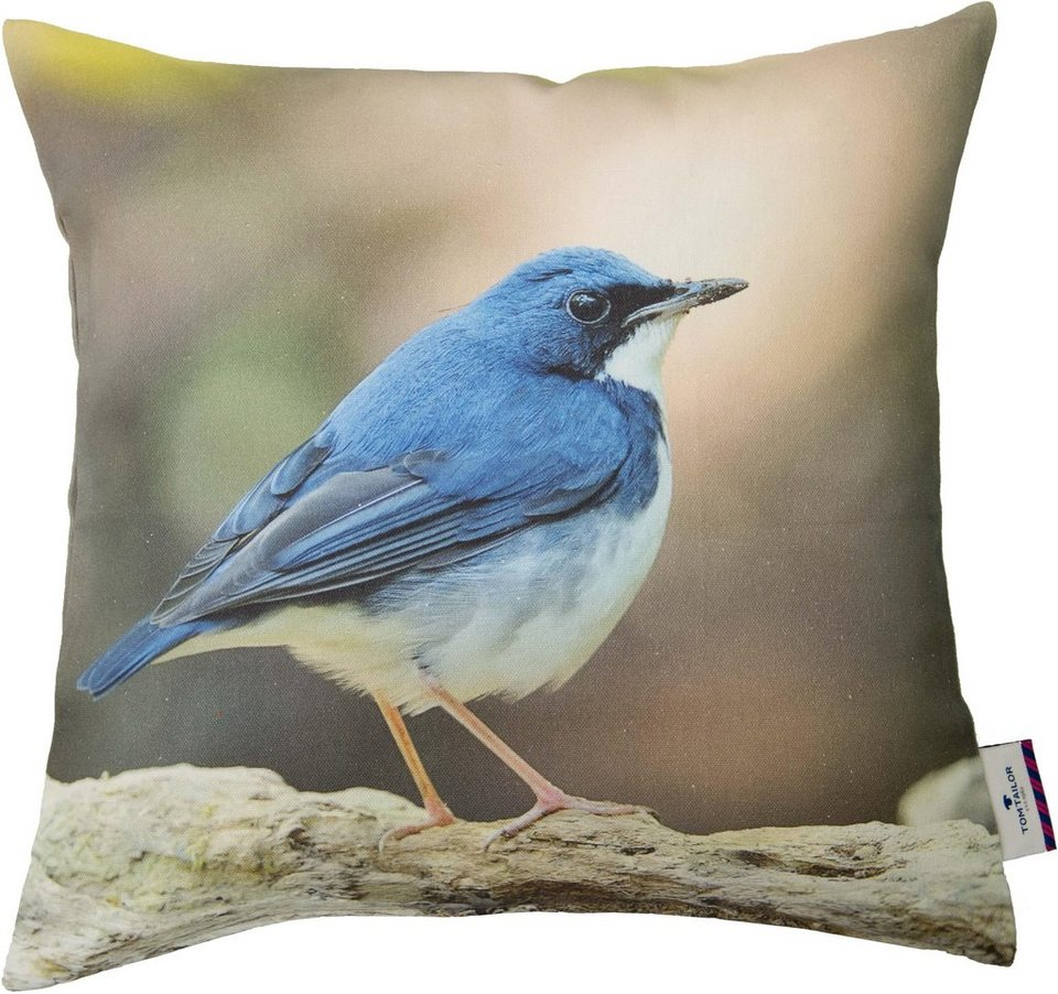 Kissenhüllen, Tom Tailor, »Bird« (1 Stück) in blau