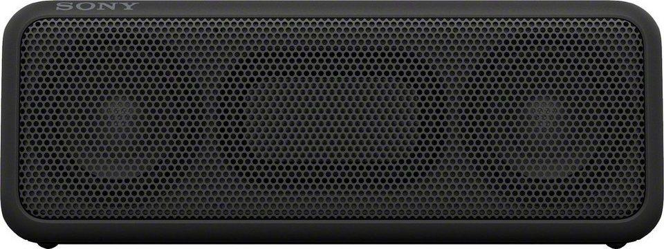 Sony SRS-XB3 tragbarer kabelloser wasserfester Lautsprecher, Bluetooth,NFC, USB mit Freisprechfunktion in schwarz