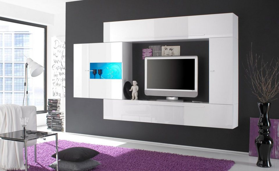 lc tv media wand breite 272 cm 4 tlg kaufen otto. Black Bedroom Furniture Sets. Home Design Ideas
