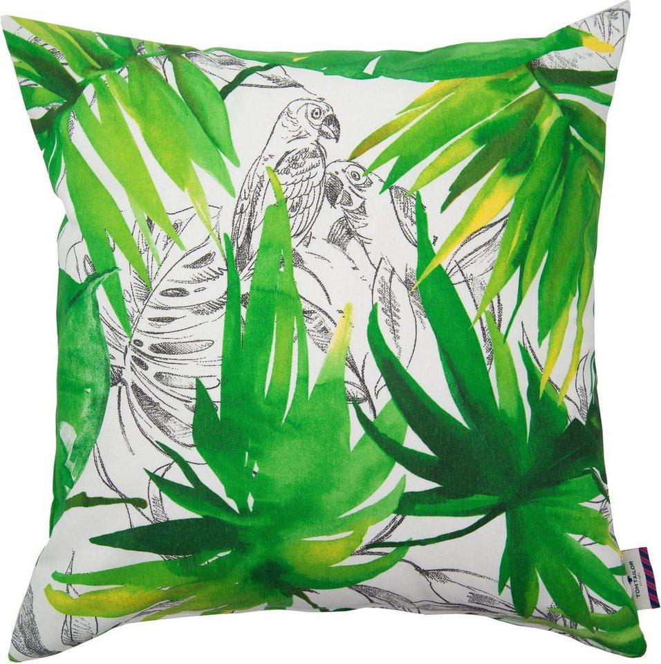 Kissenhüllen, Tom Tailor, »Jungle« (1 Stück) in grün