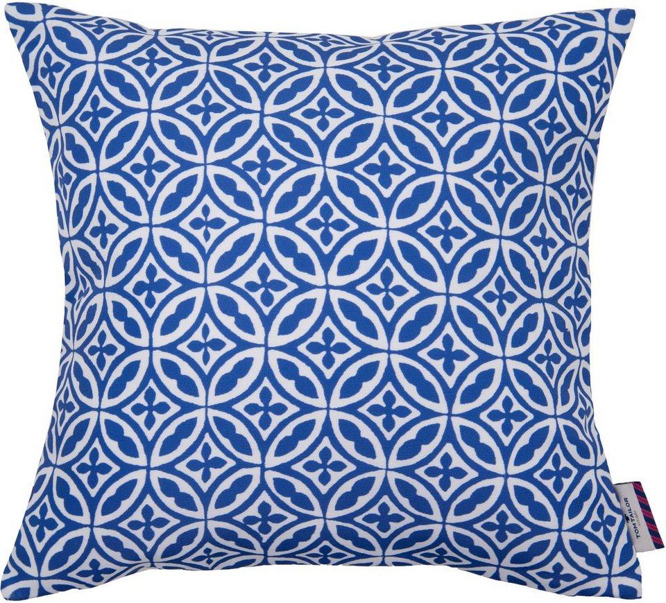 Kissenhüllen, Tom Tailor, »Blue Ornaments« (1 Stück) in blau/weiß