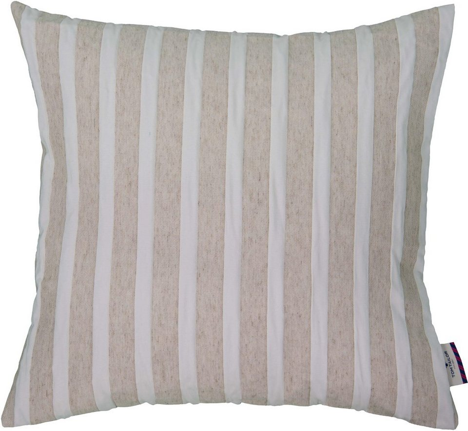 Kissenhüllen, Tom Tailor, »Linen Stripes« (1 Stück) in natur
