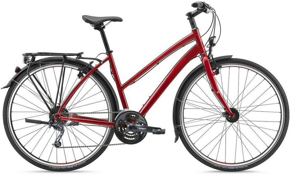 Breezer Damen Trekkingbike, 28 Zoll, 27 Gang Shimano Kettenschaltung, »Liberty 4R+« in rot