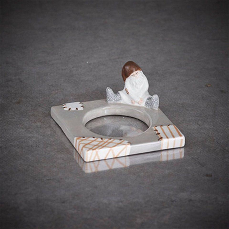 CULTDESIGN Cult Design Change Raggis - Teelichtmanschett Roger grau braun in mehrfarbig