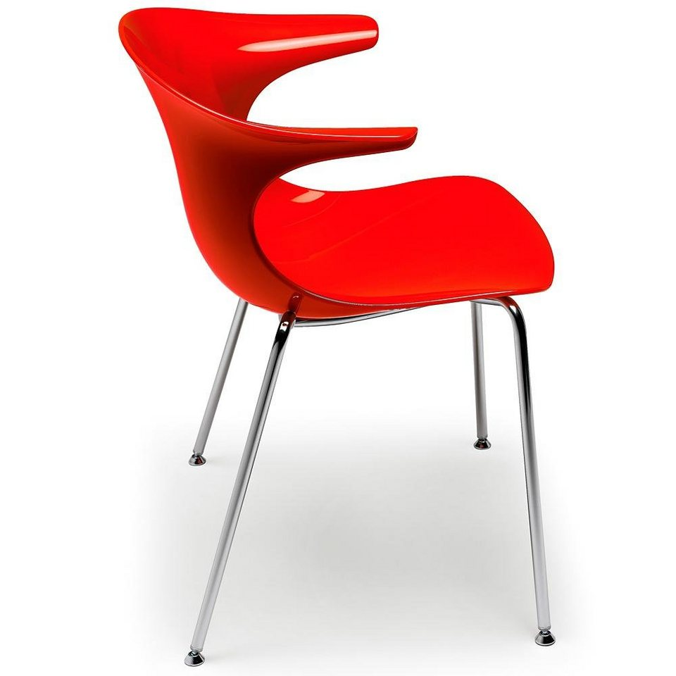Infiniti Design Designer Stuhl »Loop San« in orange