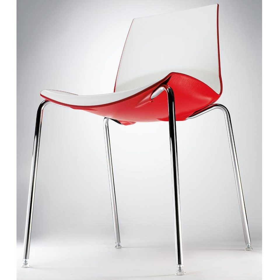 Infiniti Design Designer Stuhl »Now 4 Legs« in weiß / blau