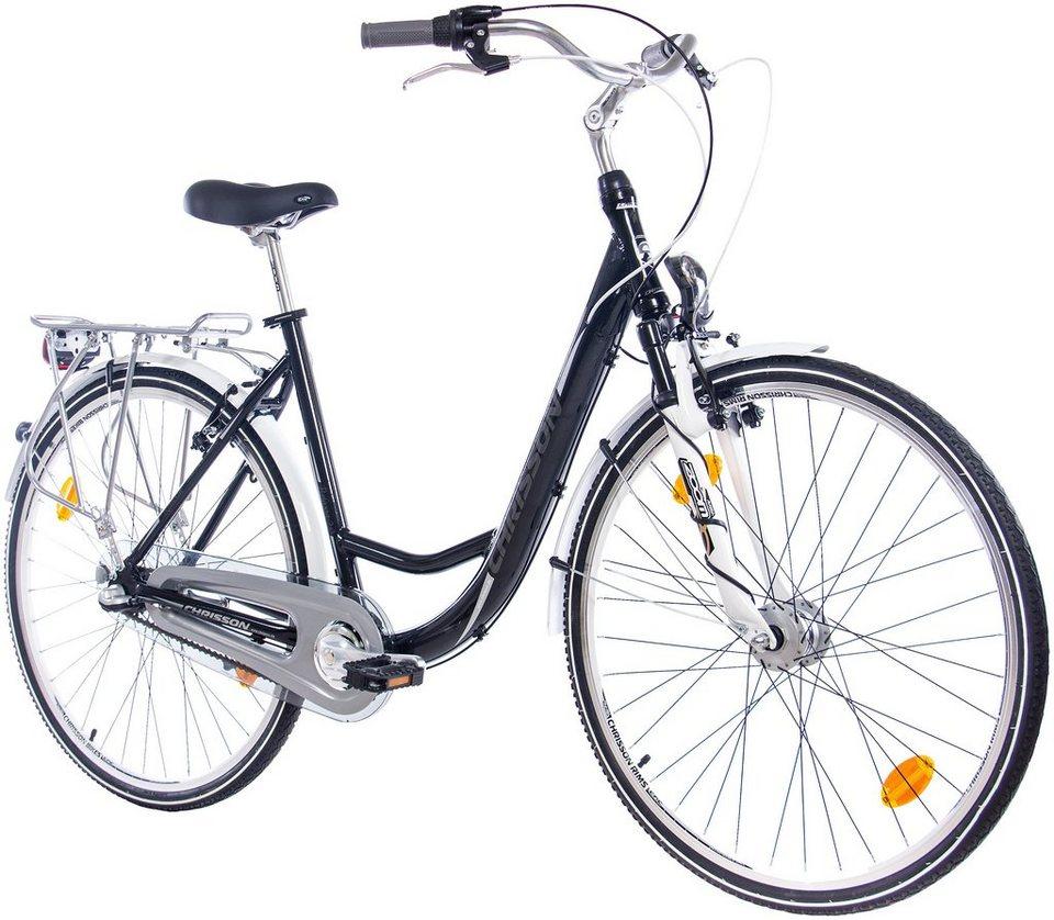 Citybike (Damen) »RELAXIA 2.0 schwarz, 71,12 cm (28 Zoll)« in schwarz