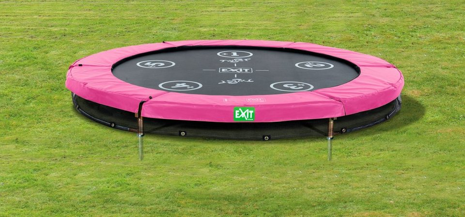 Trampolin »EXIT Twist Ground«, ø 183 cm Rosa/Grau